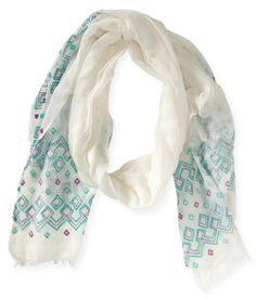 Embroidered Border Scarf