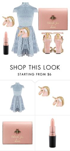 """""""Blind for Love"""" by lemoutonbleu-clothing on Polyvore featuring Alice + Olivia, Gucci, MAC Cosmetics and Dolce&Gabbana"""