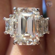 This remarkable 5.58ct emerald cut diamond ring is one of a kind and breathtaking! It is by far one of the most astonishing emerald cut diamonds you will ever see!