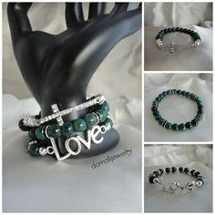 Malaysian Jade stretch bracelets