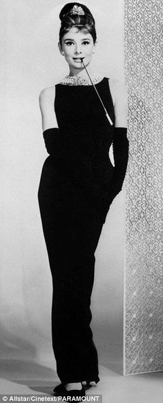 Audrey Hepburn as Holly Golightly in Breakfast at Tiffany's (1961), iconic costume by Hubert De Givenchy:
