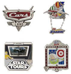 If you have been collecting the Diamond Decades pins for the past several months at the Disneyland Resort, be sure to mark your calendars as final releases in this series are set to debut this month. On September 10, add to your collection with Cars Land, Soarin', Star Tours and Toy Story Mania.