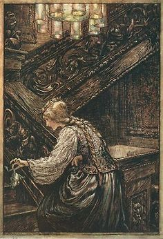 Arthur Rackham, The Frog Prince (from The Fairy Tales of the Brothers Grimm)