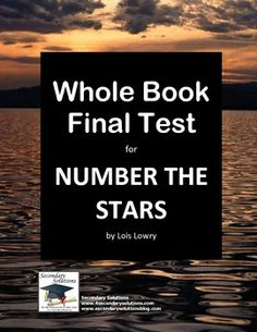 Complete Final Test to assess your student's knowledge and understanding of Number the Stars by Lois Lowry. A total of 25 questions. FREE