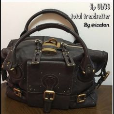 9964dd4c7f 🎉HP 1 30 CHLOE Paddington Brown Extra Large 🚫No trades❤️Leather Satchel