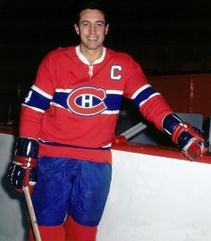 Jean Beliveau, a member of 17 Stanley Cup-winning teams with the Montreal Canadiens and a hockey immortal on and off the ice, is born in Trois Rivieres, Quebec. Montreal Canadiens, Mtl Canadiens, Maurice Richard, Montreal Ville, Of Montreal, Jonathan Toews, Sidney Crosby, Hockey Teams, Ice Hockey