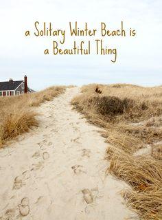 Winter Beach. Featured on Beach Bliss Living: http://beachblissliving.com/beach-decor-winter/ Cozy up!