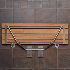 DIY Shower Bench Ideas - Shower bench not only for elderly or disabled people, but also for children. A shower bench is a good accessory for older or Bathroom Bench Seat, Wood Shower Bench, Teak Shower Stool, Wall Bench, Shower Seat, Wall Seating, Diy Shower, Bathroom Furniture, Bathroom Wall