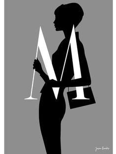 With the Silhouette Alphabet series Jason counterpoints graphic letters with sinuous silhouette fashion drawings. Limited edition print on 308 gsm Innova FP white matt paper. Logo Image, Jason Brooks, Love Illustration, Silhouette, Alphabet Art, Graphic Design Inspiration, Art Photography, Street Art, Logo Design