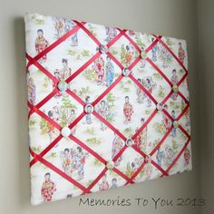 16x20 Memory Board Bow Holder Japanese Girls by MemoriestoYou, $68.00