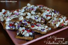 Valentines Day Smores Bark (looks easy for kids, doesn't have to be V-day)