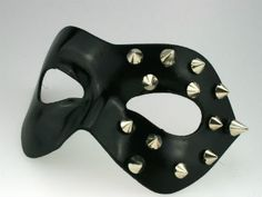 Black studded erotic masquerade mask|masquerade masks shop £26.99