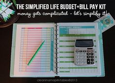 The Simplified Life BUDGET + BILL Pay Kit  by CleanMamaPrintables
