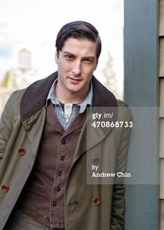 News Photo: Actor Daniel Lissing takes a break on the…
