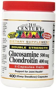 21st Century Dietary Supplement Glucosamine  Chondroitin Double Strength 400 capsules * Want additional info? Click on the affiliate link Amazon.com on image.