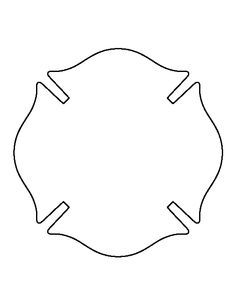 Fireman Badge Pattern Use The Printable Outline For Crafts Creating Stencils Scrapbooking