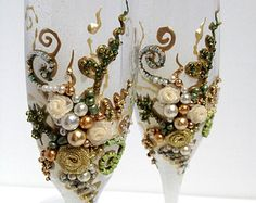 green and champagne wedding - Google Search
