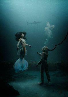 Mermaid & Diver — I really like this