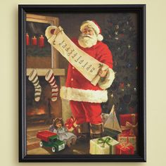 I love this!  Santa's double checking his list before he heads to your house...personalize with up to 20 names!