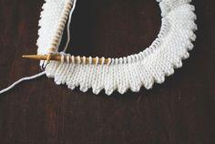 Knitting Edges: picot hem