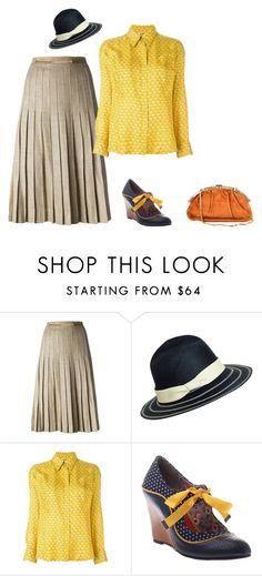 """set"" by tatikgalli on Polyvore featuring moda, CÉLINE, Hermès e Judith Leiber"