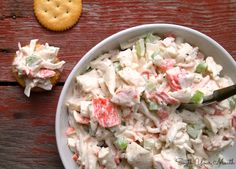 Seafood Salad Recipes Imitation Crab is One Of Beloved Salad Recipes Of Numerous Persons Round the World. Besides Easy to Make and Good Taste, This Seafood Salad Recipes Imitation Crab Also Health Indeed. Sea Food Salad Recipes, Crab Recipes, Healthy Recipes, Seafood Salad Sandwich Recipe, Lobster Recipes, Yummy Recipes, Seafood Dishes, Fish And Seafood, Seafood Appetizers