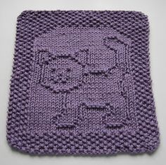 Purrfect Cat Square & Many More Animals Knit Pattern // Down Cloverlaine // Free