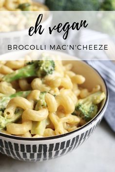 healthy broccoli vegan mac & cheese make extra sauce for meal prep *can be made gluten free