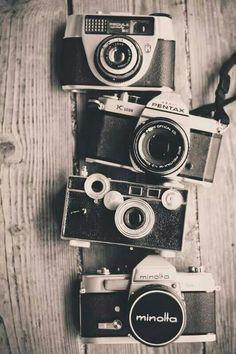 Vintage camera collection #filmcamera #pentax #minolta