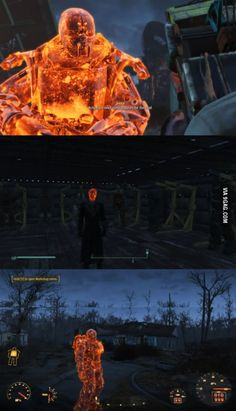 [Fallout 4] I fell into a vat of molten lava and now...