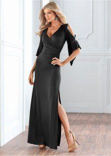 Uzun Gece Elbisesi, BODYFLIRT boutique, siyah