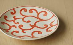 磁器の染付け5寸皿(赤)|器|HIGASHIYAオンラインショップ