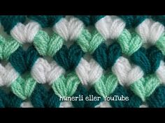 Crochet Stitches For Beginners, Crochet Videos, Baby Knitting Patterns, Crochet Patterns, Crochet Crocodile Stitch, Bling Acrylic Nails, Crochet Art, Crochet Scarves, Diy And Crafts