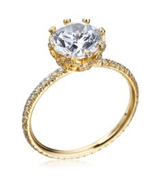 Erica Courtney - Gorgeous & Engaged 18K Yellow Gold Candy Pave Setting