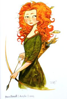 Brave concept art by Steve Purcell