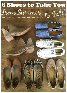 TRANSITION SHOES that will take you straight from Summer to Fall!