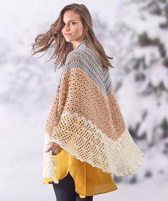 Sensational Shawl By Rebecca Velasquez - Free Crochet Pattern - (redheart)