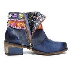 80c214d04c70 SOCOFY Friday Splicing Handmade Weaving Strap Ankle Leather Boots is hot- sale. Come to NewChic to buy womens boots online.