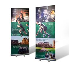 sports club pull up banners Bold Words, School Brochure, Pop Up Banner, Banner Ideas, Sports Clubs, St John's, Brochures, Design Projects, Banners