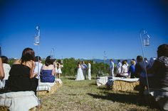 Brides: Rustic wedding ceremony :