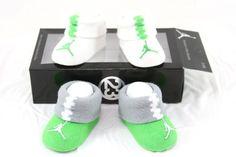 2 Pair Nike Air Jordan 0-6 Months Baby Booties Infant Teal Blue Boys Gift B1 M