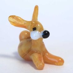 New Products. Little Bunny Figurine is hand made in technique of blowing of color glass by... http://russian-crafts.com/glass-figurines/tiny-glass-animals/little-bunny-figurine.html