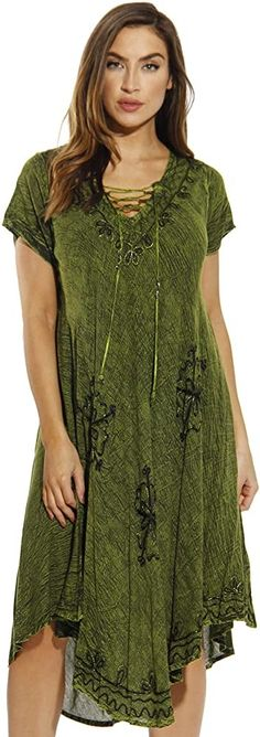 online shopping for Riviera Sun Lace Up Acid Wash Embroidered Dress Short Sleeve Dresses For Women from top store. See new offer for Riviera Sun Lace Up Acid Wash Embroidered Dress Short Sleeve Dresses For Women Sundresses Women, Curve Dresses, Women's Dresses, Best Summer Dresses, Fairy Dress, Cold Shoulder Dress, Shoulder Bag, Short Sleeve Dresses, Lace Up