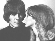 "George Harrison and Pattie Boyd. Inspiration for ""Something in the Way"". She also inspired Eric Clapton's ""Layla""."