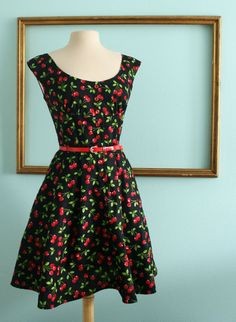 OMG I love cherries and vintage style dresses