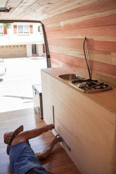 Built in pump sink by Cyrus Sutton #VanConversion