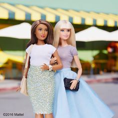 """""""Style tip: pair a party skirt with a simple tee for a perfect daytime look! ✨ #barbie #barbiestyle"""""""