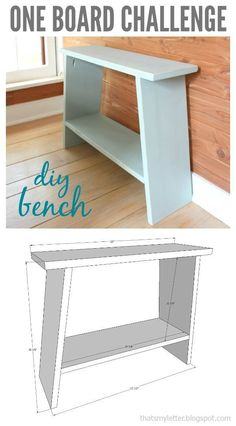 One Board Challenge: Bench #woodworkingbench