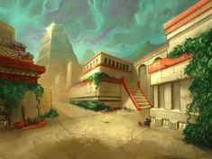 Aztec City by Aztec Architecture, Ancient Architecture, Fantasy City, Fantasy World, Aztec City, Ancient Aztecs, Mexico Culture, Desert Art, Mesoamerican