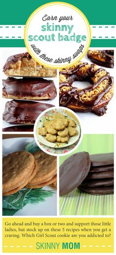 GREAT Skinny Swap Recipes for the most popular Girl Scout Cookies! A MUST SHARE - you will love these recipes!
